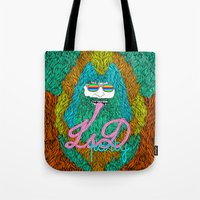 lsd Tote Bags featuring Lsd party by DIVIDUS