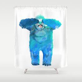 Yeti in the Morning Shower Curtain