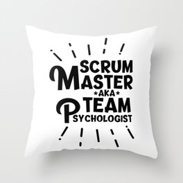 Scrum Master Throw Pillow