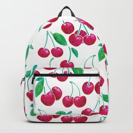 Watercolour Cherries | White Background Backpack