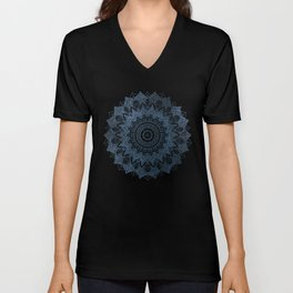 BOHOCHIC MANDALA IN BLUE Unisex V-Neck
