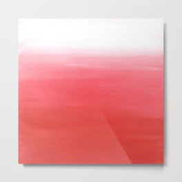 Vermilion Abstract Metal Print