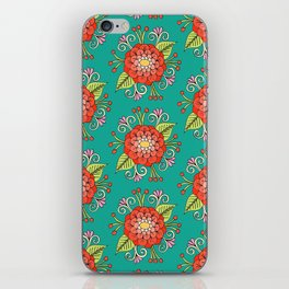 Zinnia Pattern iPhone Skin