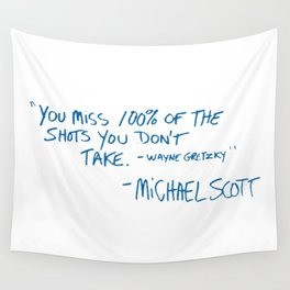 Office Quote Wall Tapestry