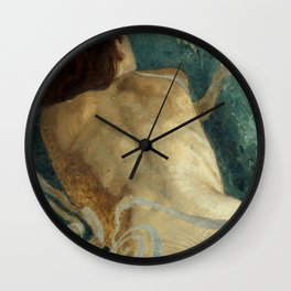 Backlite Nude Figure Oil painting Turquoise of Woman Wall Clock