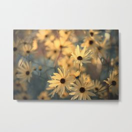 Autumn Botanical Muted Sunflowers Metal Print