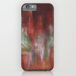 Abstract Moscow. Acrylic on canvas (Abstract art) iPhone Case