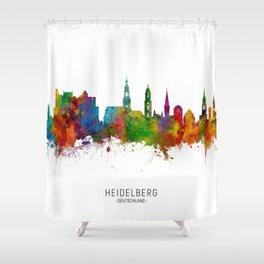 Heidelberg Germany Skyline Shower Curtain