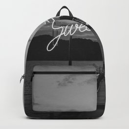 Sweet Escape (Black and White) Backpack