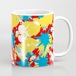Abstract Floral Pattern Design Coffee Mug