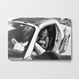 Swimsuit Girl in Car Metal Print