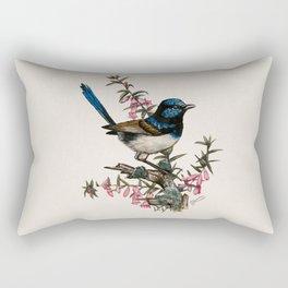 Australian Blue Wren Rectangular Pillow