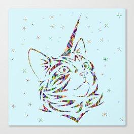 Behold the Wondrous Unicat! Canvas Print