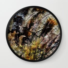 Pampas Grass Abstract Wall Clock
