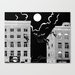 sounds of the night Canvas Print