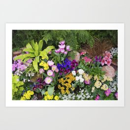 Floral Spectacular - Spring Flower Show Art Print