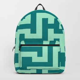 Magic Mint Green and Teal Green Labyrinth Backpack