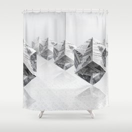 News Cubes 3 Shower Curtain