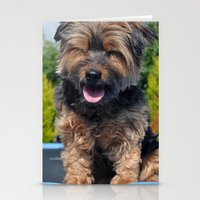 yorkie Stationery Cards featuring Yorkie by Sammycrafts