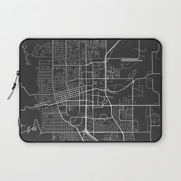 Boulder Map, USA - Gray Laptop Sleeve