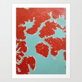 Worn Table Surface Art Print