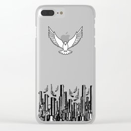 Peace of the Action BLUE / Peace concept Clear iPhone Case