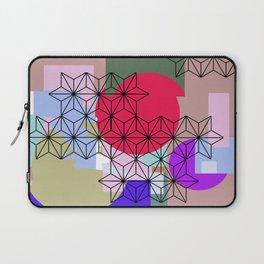Japanese Star Asanoha Color Block Abstract Design Laptop Sleeve