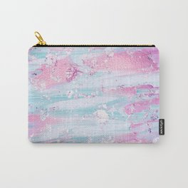 Shine Shimmer Pastel Pink and Blue Modern Carry-All Pouch