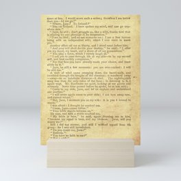 Jane Eyre, Mr. Rochester First Marriage Proposal by Charlotte Bronte Mini Art Print