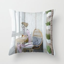 pijamas Throw Pillow