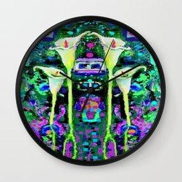 ARTY ART NOUVEAU CALLA LILIES DESIGN Wall Clock