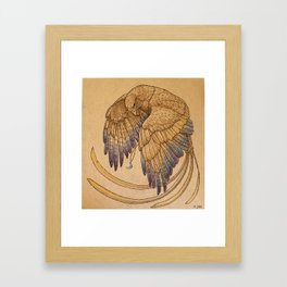 Lunar Falcon Framed Art Print