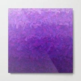 Pile of Purple Plume - Ombre Metal Print