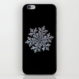 Real snowflake - Hyperion black iPhone Skin