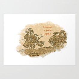 """Trees Of Catalina #2""/Simple Friendship Art Print"