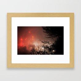 Glowing sky Framed Art Print