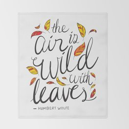 Wild With Leaves Throw Blanket