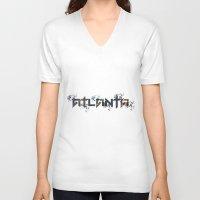 atlanta V-neck T-shirts featuring ATLANTA by Cr7izbest