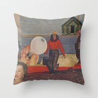 fishing Throw Pillows featuring Fishing by Jon Duci