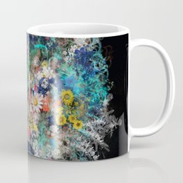 floral animals wolf 2 Coffee Mug