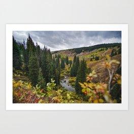 Wyoming Fall Art Print
