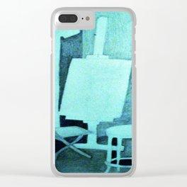 Studio in Blue Clear iPhone Case
