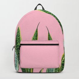 Snake plants with pink Backpack