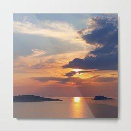 Sunset on the Adriatic Metal Print