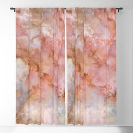 Beautiful & Dreamy Rose Gold Marble Blackout Curtain
