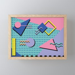 Memphis Pattern 14 - 80s Retro Framed Mini Art Print