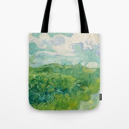 Green Wheat Fields, Auvers, 1890, Vincent van Gogh Tote Bag