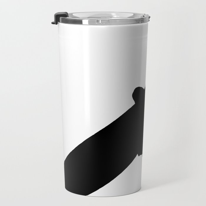 Time To Wake Up Kiteboarder Silhouette Travel Mug