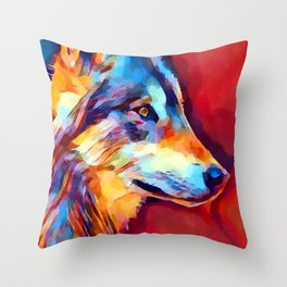 Wolf Portrait 2 Throw Pillow