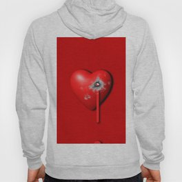 Heart Series Love Bullet Holes Love Valentine Anniversary Birthday Romance Sexy Red Hearts Valentine Hoody